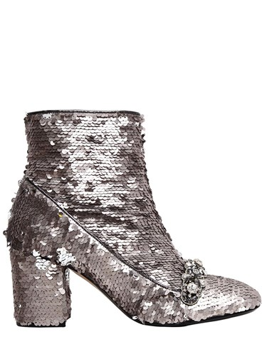 N°21 70Mm Embellished Sequins Ankle Boots zipZtO3