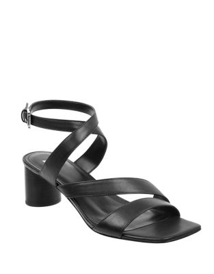 Marc Fisher Idana City Leather Sandals Black NQoiixey