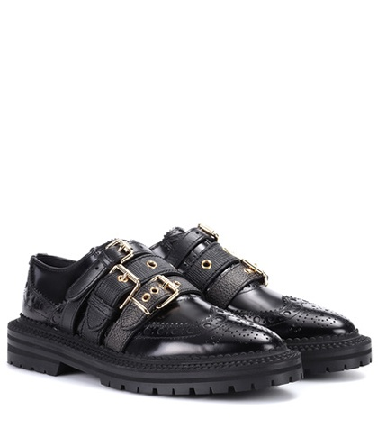 Burberry Doherty Brogue Shoes Black xx909teA0D