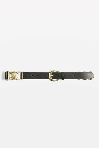 Topshop Lion Link Belt Black udpqJKN