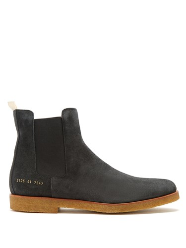 Common Projects Suede Chelsea Boots Grey 9vSqGDGpv