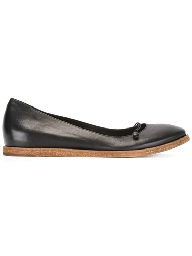 Del Carlo Classic Ballerinas Calf Leather Leather Black VPtvKDU9GI