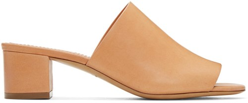 Mansur Gavriel Tan Leather Mules DAmRv1