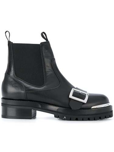 Alexander McQueen Buckle Strap Boots Calf Leather Leather Rubber 36.5 Black giqN9YIqyN
