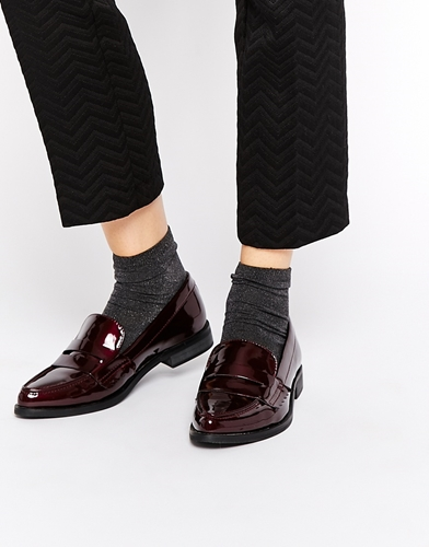 Asos Medieval Pointed Loafers Oxblood 1RfTRfR