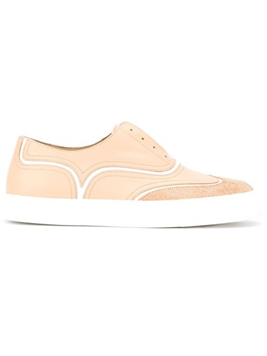 Giuseppe Zanotti Design Brogue Detail Sneakers Nude And Neutrals Geoty
