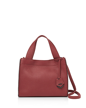 Leather Fulton Gunmetal Satchel Merlot Botkier 8fwpxUq58