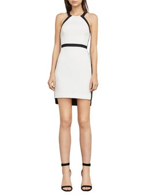 BCBGMAXAZRIA Sabryna Cut Out Halter Dress White JmNPAxtYqZ