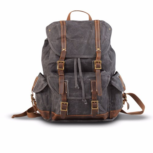 Backpack EAZO Canvas Waterproof Grey Waxed UXxBqwSvY