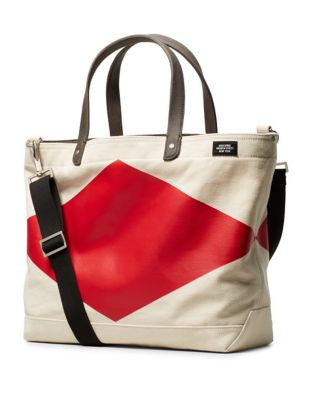 Jack Spade Industrial Canvas Cotton Bag Natural Red syuGXuLr