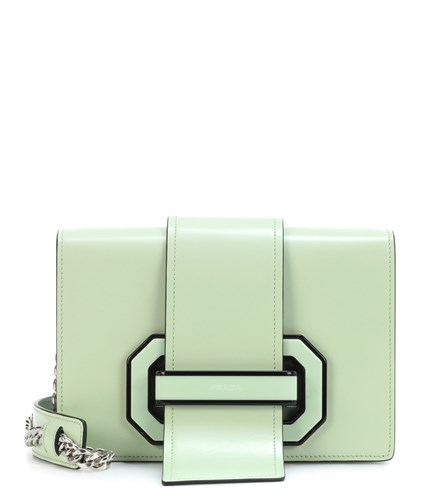 Prada Plex Ribbon Shoulder Bag Green g4zv3