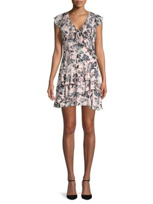 Fit Dorthy Pearl Paradise Dress Floral Blush Parker Flare And Ruffle q4BwOExdE