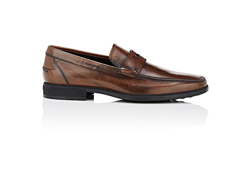 Tod's Men's Burnished Leather Penny Loafers Dark Brown Brown 2zIYO590b