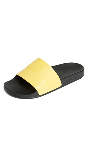 Raf Simons Adidas By Adilette Checkerboard Slides Black Lemon J0aD1YE