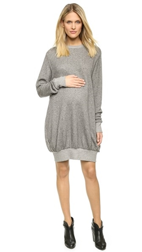 Hatch The Sweatshirt Dress Charcoal Heather JqybZ7S