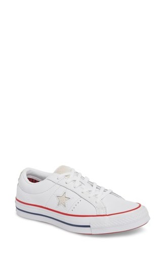 Converse One Star Sneaker White Gym Red shkiNWr