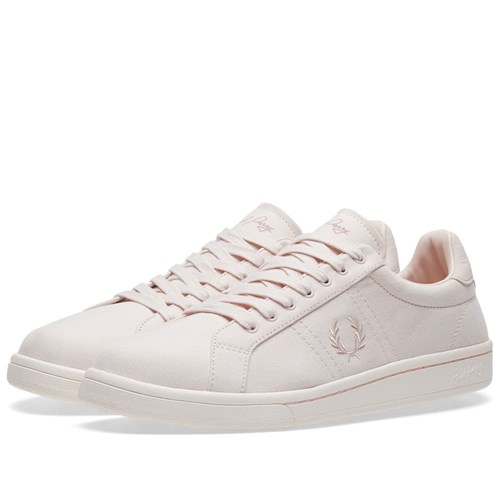 Fred Perry Brushed Cotton Sneaker Pink orghoU