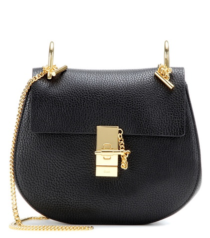 Chloé Drew Small Leather Shoulder Bag Black dFukd8xZ4l
