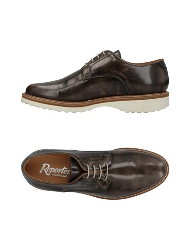Reporter Lace Up Shoes Dark Brown RESfnA