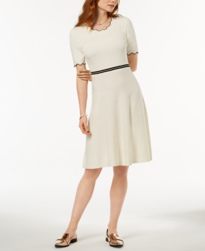Maison Jules Scalloped Fit And Flare Dress Created For Macy's Cloud nhpDum