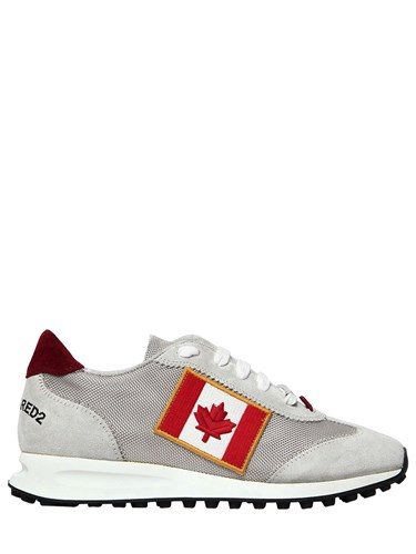 DSquared 20Mm New Runner Suede And Nylon Sneakers a5ytomzR