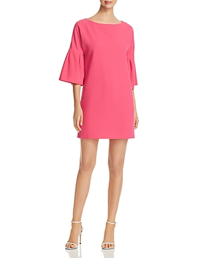 Badgley Mischka Bell Sleeve Shift Dress Pink x4yQks