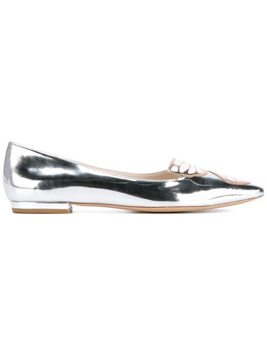 Sophia Webster Bibi Butterfly Ballerinas Metallic zpMOCcS5N