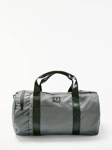 Fred Perry Weave Barrel Bag Grey 5fI0t5SUFo