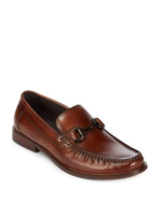 Kenneth Cole Cogle Cognac Leather Loafers sYmPZMpyt