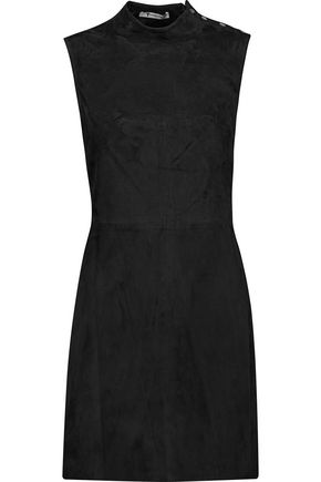 Alexander Wang Suede Mini Dress Black VZOe5
