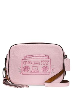 Coach Keith Haring Boombox Leather Camera Bag Pink te9684IL