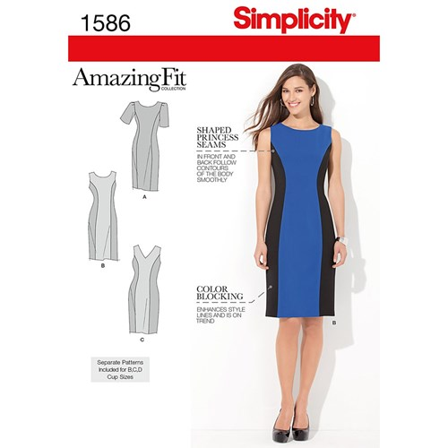 Simplicity Amazing Fit Dresses Dressmaking Leaflet 1586 Aa rHPopqz