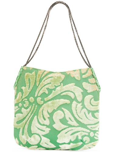 Versace Vintage Patterned Handbag Green m9Pzd4hWN