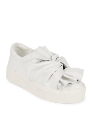 Kenneth Cole Aaron Leather Slip On Sneakers White LgvGw02