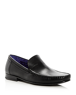 Ted Baker Men's Simeen Leather Moc Toe Loafers Black Q1fph09O