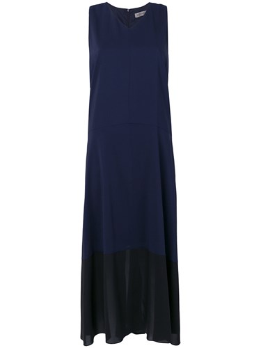 Sportmax Chiffon Dress Blue ifQLw