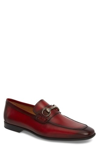 Magnanni 'Rafa Ii' Bit Loafer Red Red Leather lE6mOtOCz