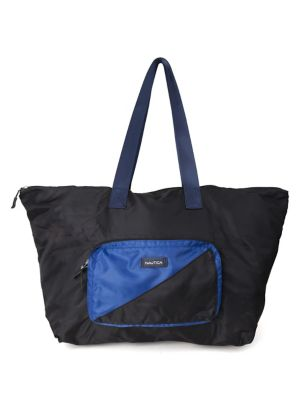 Nautica Tack Large Black Packable New Tote rrF8q6