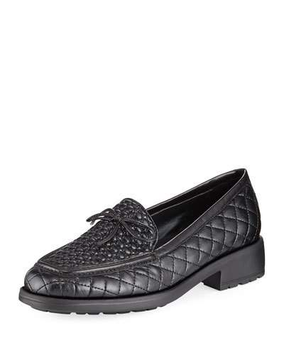 Sesto Meucci Merrie Quilted Heeled Loafer Black F8T4q7