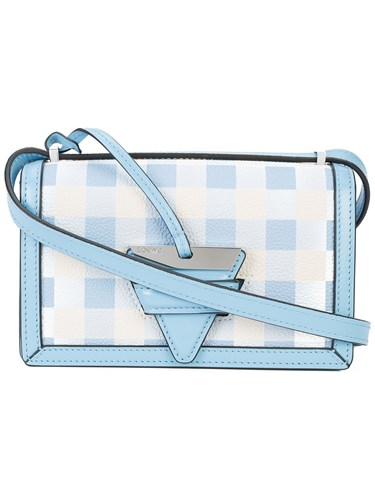 Loewe Barcelona Gingham Mini Bag Blue hkyzddBx
