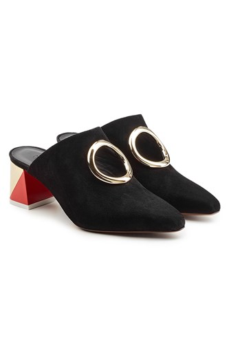 Neous Pleione Leather And Suede Mules Black 46hitths0