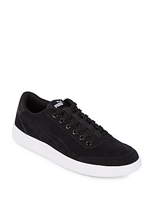 Puma Lace Up Leather Sneakers Black iiKxYcE
