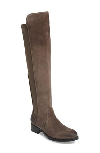Bos. & Co. 'S Bunt Waterproof Over The Knee Boot Elephant Suede Leather 4BIWldN