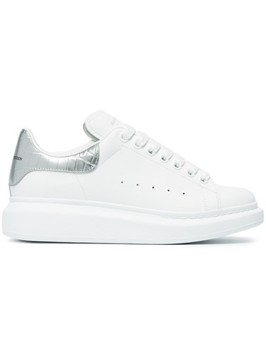 Up Sneakers Alexander White Leather Lace McQueen 80qwgwxtF
