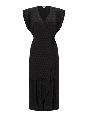 Wrap Jigsaw Jigsaw Black Black Dress Frill Frill Frill Wrap Jigsaw Dress Wrap fqHYXwnA