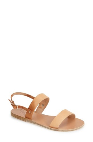 Clio Natural Slingback Sandals Women's Sandal Greek Ancient fBnw7pWHp