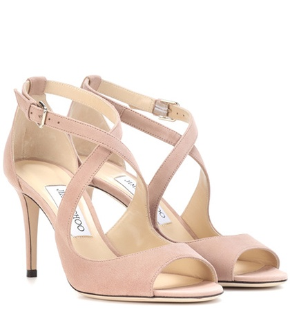 Jimmy Choo Emily 85 Suede Sandals Pink re0DWTXl