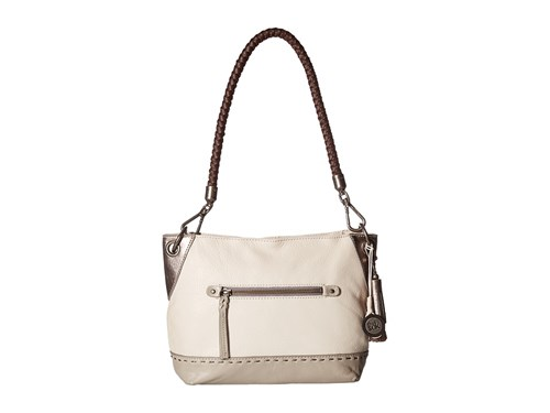 The Sak Indio Leather Demi Shadow Sparkle Block Shoulder Handbags White hgZ1nD