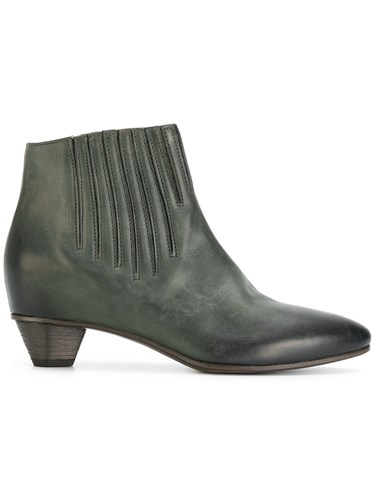Roberto Del Carlo Stitch Detail Ankle Boots Calf Leather Leather Green DAL8n26F2