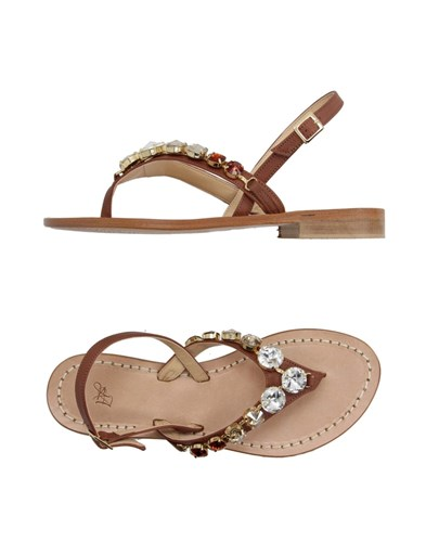 Thong Footwear Women Sandals ARGENTO ANTICO Brown wHxqax5Egn